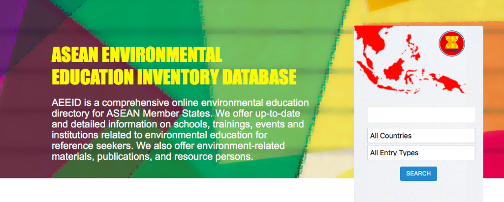 ASEAN Environmental Education Inventory Database